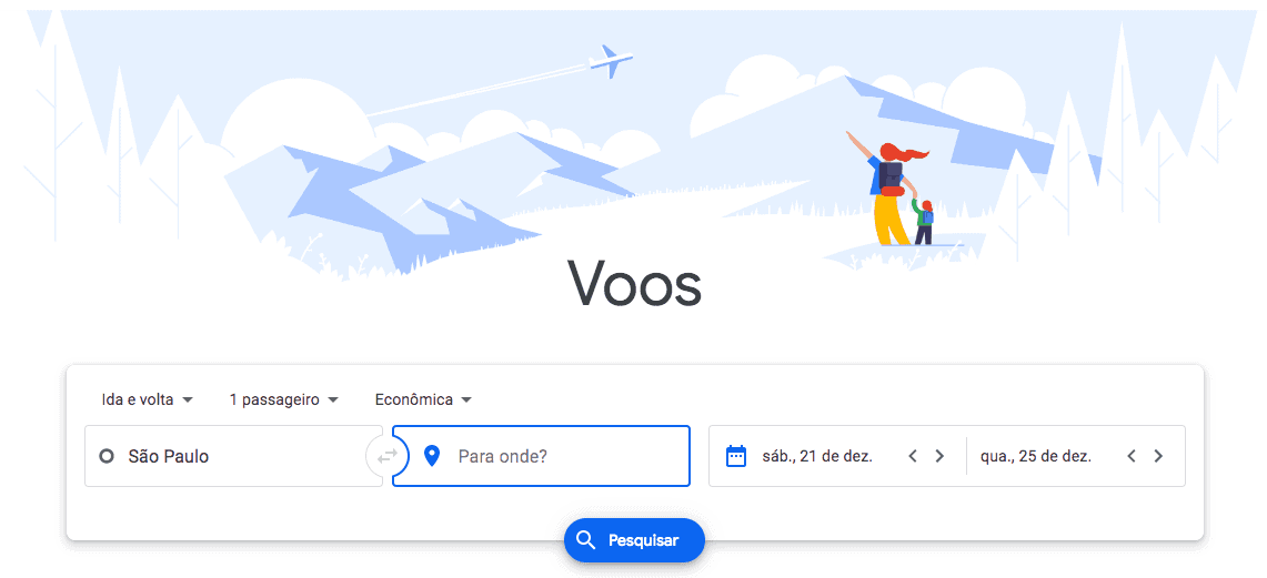 viajar barato google flights