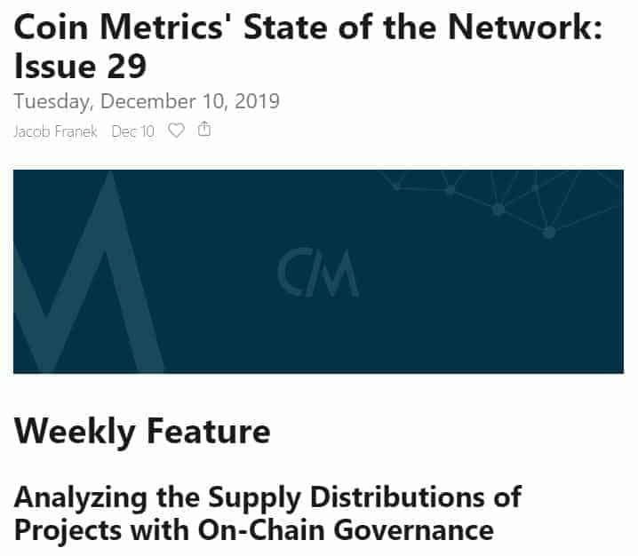 newsletter do Coin Metrics