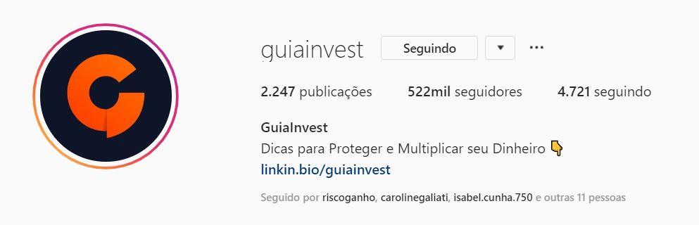 guia invest instagram educação financeira