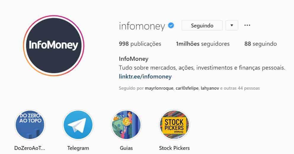 perfis instagram para seguir infomoney educação financeira