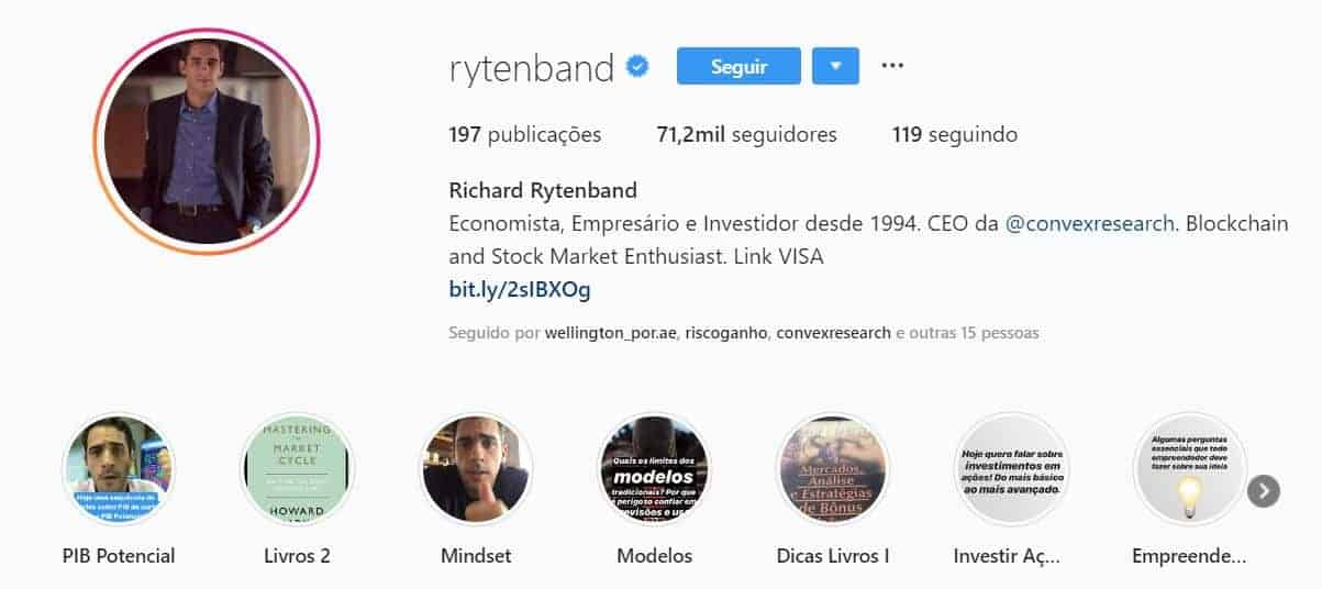 richard rytenband instagram educação financeira