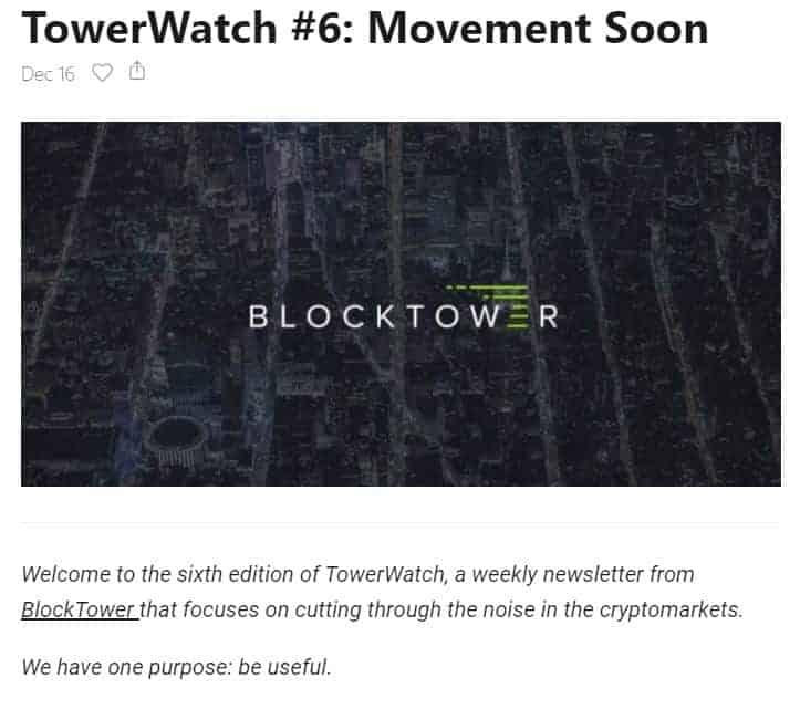 blocktower newsletter