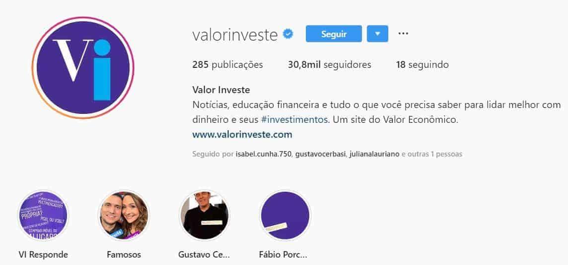 valor investe instagram
