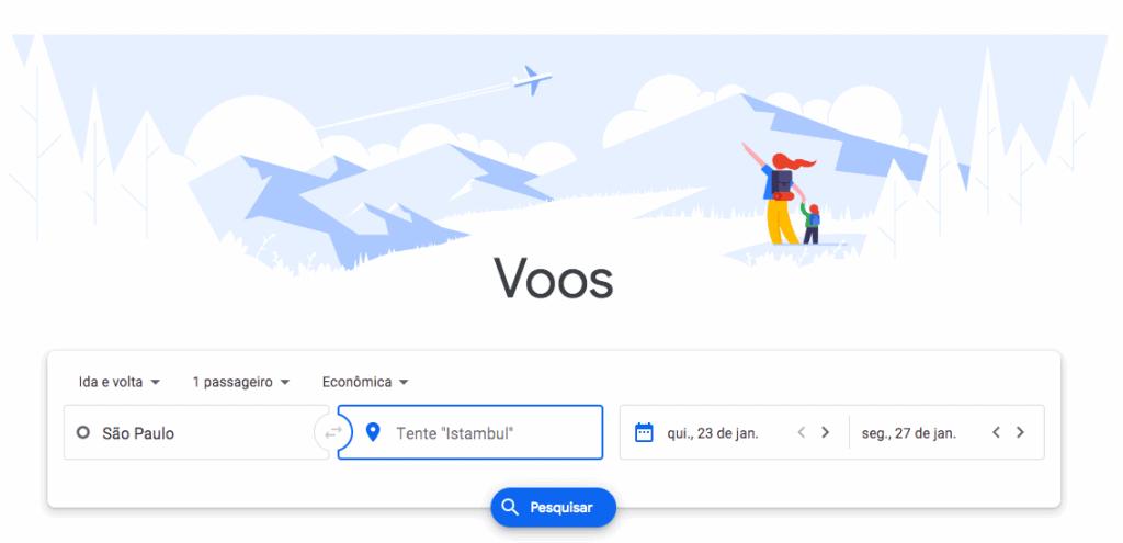 Google Flights - passagens aéreas baratas