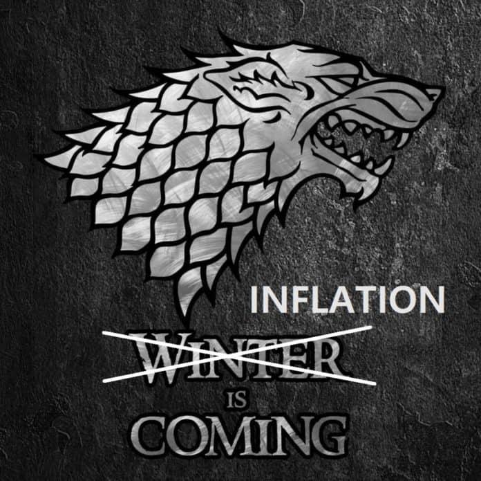 inflação está chegando