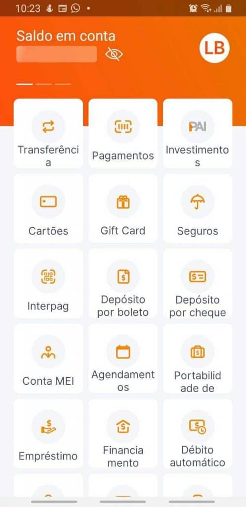 banco inter finanças digitais