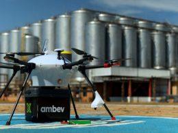 Ambev realiza primeiro teste de delivery com drone: Empresa divulgou imagens